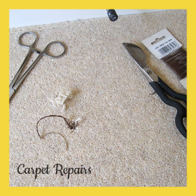 repair a damaged carpet